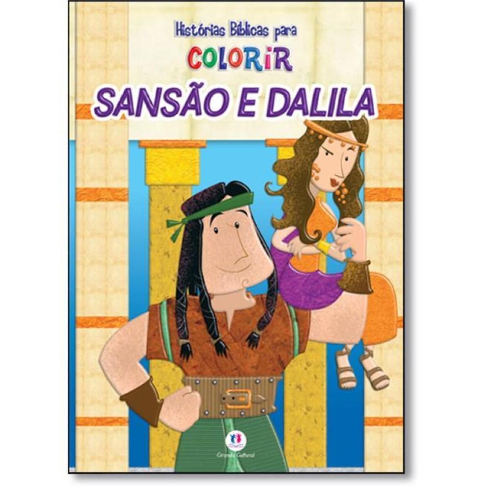 Historias Biblicas Para Colorir Sansao E Dalila
